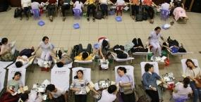 Ngày hội Hiến máu nhân đạo tại Hội trường Đại học Đà Nẵng