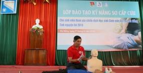 Chương trình Tập huấn Kỹ năng sơ cấp cứu cho tình nguyện viên tham gia Chiến dịch Học sinh, Sinh viên Đại học Đà Nẵng tình nguyện hè 2018