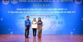 Sinh viên Trường Đại học Bách khoa - Đại học Đà Nẵng giành nhiều chiến thắng lớn tại Cuộc thi Sinh viên nghiên cứu khoa học thành phố Đà Nẵng năm 2017