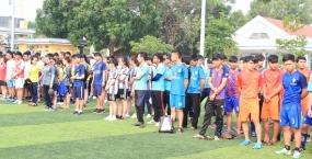 Lễ khai mạc giải bóng đá, bóng chuyền sinh viên Phân hiệu ĐHĐN tại Kon Tum năm học 2016-2017