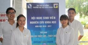 Hội nghị Sinh viên NCKH khoa Xây dựng Thủy lợi - Thủy điện năm 2017