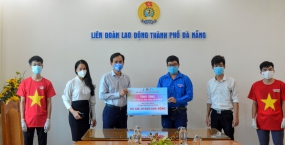 """Đoàn Thanh niên – Hội Sinh viên Đại học Đà Nẵng ủng hộ Chương trình """"20 ngàn suất ăn hỗ trợ đoàn viên ngành Y tế"""""""