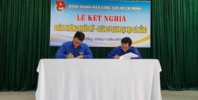 Lễ Kết nghĩa giữa Đoàn Thanh niên Cơ quan Đại học Đà Nẵng và Đoàn Thanh niên phường Phước Mỹ: Gắn kết trường học – địa phương