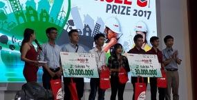 Nhóm sinh viên Khoa Kiến trúc Trường Đại học Bách khoa, Đại học Đà Nẵng giành Giải 3 - INSEE Prize 2017