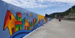 Con đường bích họa ven biển Lý Sơn - sản phẩm của sinh viên khoa Kiến trúc