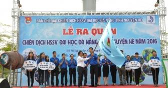 Lễ xuất quân chiến dịch HSSV Tình nguyện Hè 2016-Tuổi trẻ Đại học Đà Nẵng: Chung tay xây dựng nông thôn mới và văn minh đô thị!