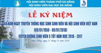 Kế hoạch Tổ chức Lễ kỷ niệm 68 năm ngày truyền thống HSSV và Hội Sinh viên Việt Nam (9/1/1950 – 9/1/2018)